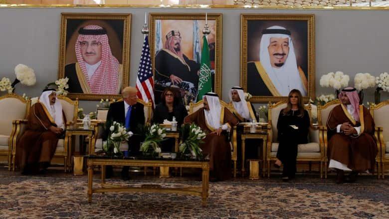 Saud Meets with U.S. President Trump in Riyad