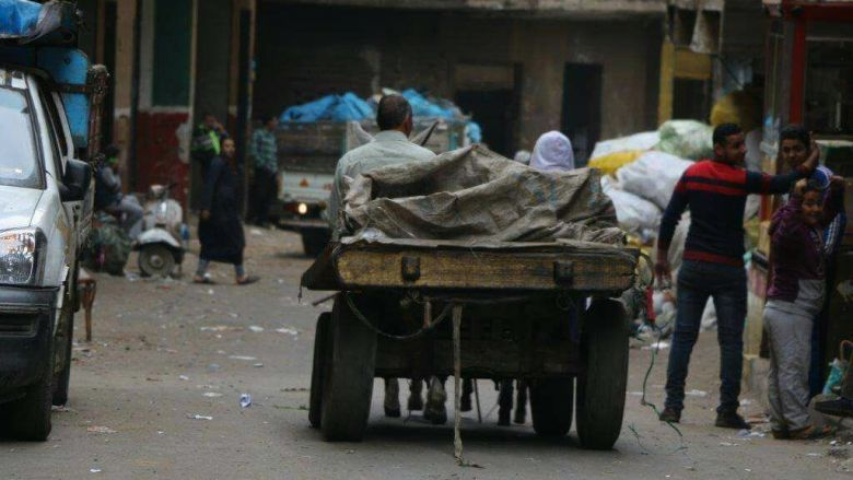 Donkey Cart carrying garbage in Zabaleen area 780x439 1