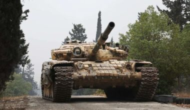 Tank Shell Hits its Aleppo Office
